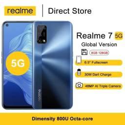 Smartphone Realme 7, 5G, 6GB Ram, 128GB Armazenamento, Baltic Blue, Novo, Desbloqueado
