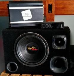 Caixa trio + Módulo + Rádio