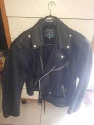 Jaqueta motoqueiro couro legítimo venha conferir