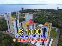 Ilhas Gregas Condominium Clube - 94m² com 2 vagas soltas no subsolo | 11º andar