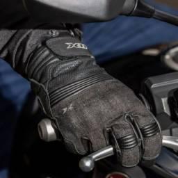Luva X11 Urban Couro Motoqueiro Motociclista Proteção - Tamanho G