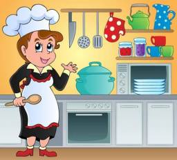 Cozinheira para café da manhã