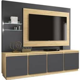 Home Luz Para TV Até 55 Polegadas EDN Móveis Pinus Grafite