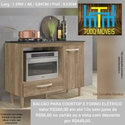 BALCÃO PARA COOKTOP E FORNO ELÉTRICO