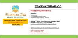Vaga p/ Vendedora/Administrativo