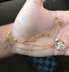 Cordão Cartier de Ouro 18k com Pingente Joia São Jorge