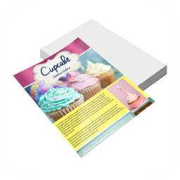 Promoção de panfleto 15x21, frente colorida e verso vazio