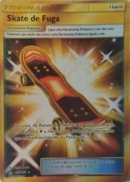 Promoção! Carta Pokémon Treinador Skate De Fuga Item 167/156