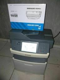 Impressora e copiadora multifuncional Lexmark x464 bem conservada com toner novo
