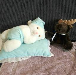 Ursinho de pelúcia e mini alce