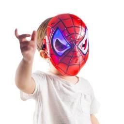 Máscara Do Homem Aranha Spider Infantil Que Brilha No Escuro