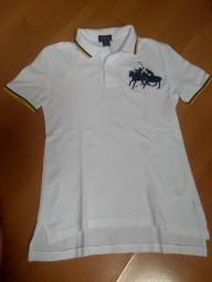 Camisa branca infantil Polo Ralph Lauren