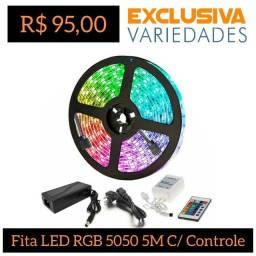 Fita LED Rgb 5050 Rolo 5m C/ Dupla Face