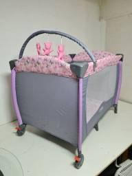 Título do anúncio: Berço Desmontável Baby Style Plus - Rosa