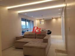 Apartamento mobiliado de 2 dormitórios com sala ampliada no Canal 3 em Santos