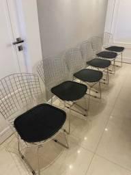 Cadeiras tipo Bertória em aço cromado!!