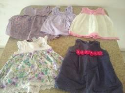 Lote de roupa para menina