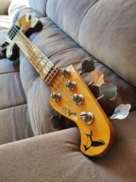Baixo 5 cordas D Mark Jazz Bass Deluxe No Fender ,  Music Man , Warwick