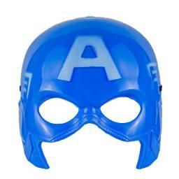 Máscara do Capitão América Infantil de Plástico Metade do Rosto