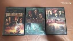 3 DVDs Piratas do Caribe original