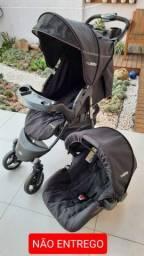 Carrinho e bebê conforto em perfeito estado