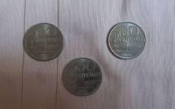 Moeda 50 centavos anos variados