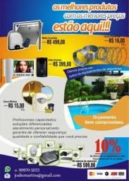 Câmeras de Segurança, Cerca Elétrica, Interfone, Motor Portão, Concertina, Vídeo Porteiro