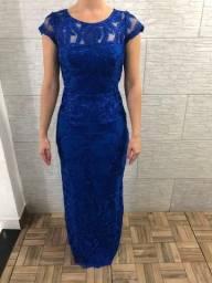 Vestido Azul Royal de Tule Bordado