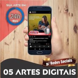 Pacote 05 Artes p/ Redes Sociais