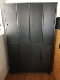 Locker / Armário preto vestiário 8 portas - Parcelo no cartão