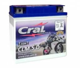 Bateria 5 amp cral biz 125/bros 125/150/titan/fan ks-es/ybr/hunter