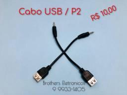 Cabo P2 / USB