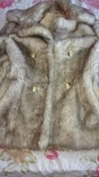Casaco elegante de pele