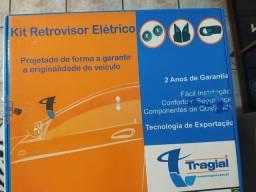 Kit retrovisor eletricista e trava elétrica na caixa