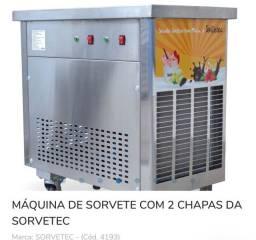 Máquina de sorvete na chapa