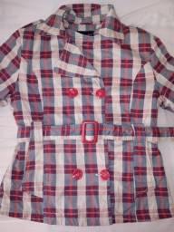 Casaco Trench acolchoado feminino c/botões