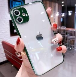 Capa para iPhone com protetor de câmera