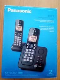 Telefone sem fio Panasonic Kx TGC362 - aceito cartão e OLX Pay