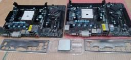 2 Placas mãe Asrock, mais processador A4, leia (descriçao)