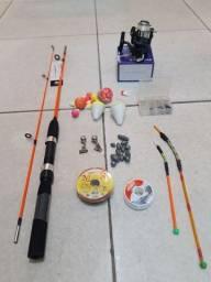 Intens de pesca vara e molinete novos alzois 150 chunbadas linhas boias sinos