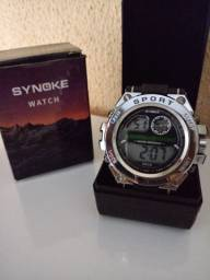 Relógio Synoke com Mostrador de Metal Esportivo/Estiloso