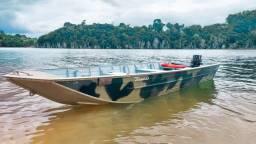 Vendo barco com motor mercury  15/18 hp super