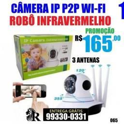 Camera Robo 3 Antenas Ip Wifi 360 Sistema (Entrega grátis)