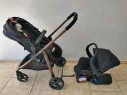 Carrinho de bebê Galzerano Olympus + bebê conforto + base