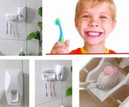 Kit Dispenser automático + Suporte Escova de dentes Promoção