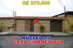 Casa Cidade Nova, Núcleo 15 Manaus com 2 quartos sendo 1 suíte, com opção 3 quartos