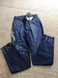 Calça jeans feminina nova com etiqueta