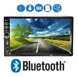 "Multimídia 2 din Mp5 Bluetooth Universal Tela Touch 7"" c/ Espelhamento"