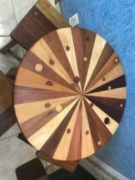 Mesa de madeira para jardim e bistro