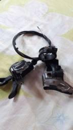 Câmbio shimano deore dianteiro e alavanca deore esquerda usados